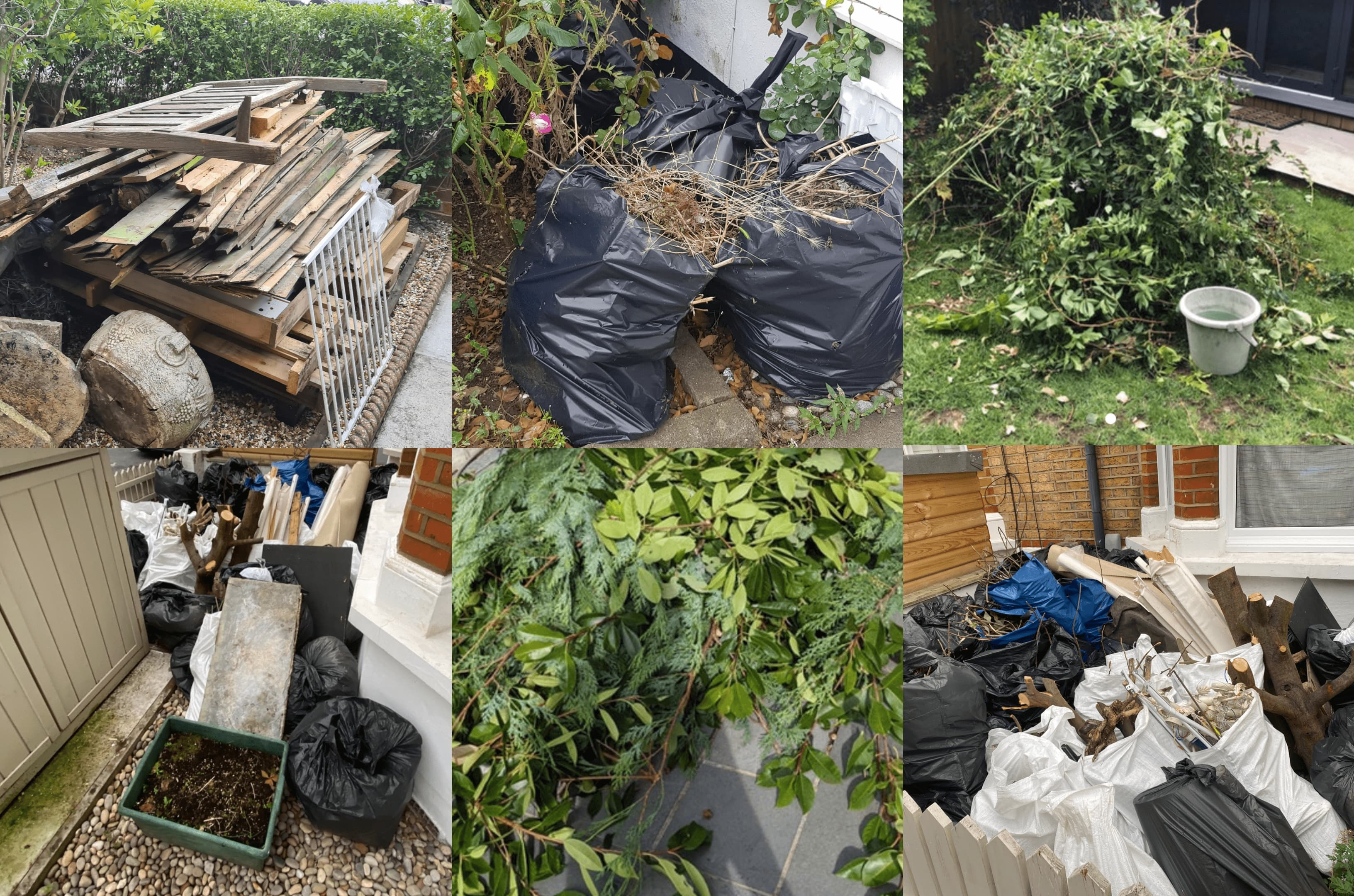 garden waste collage how to dispose of green waste lovejunk
