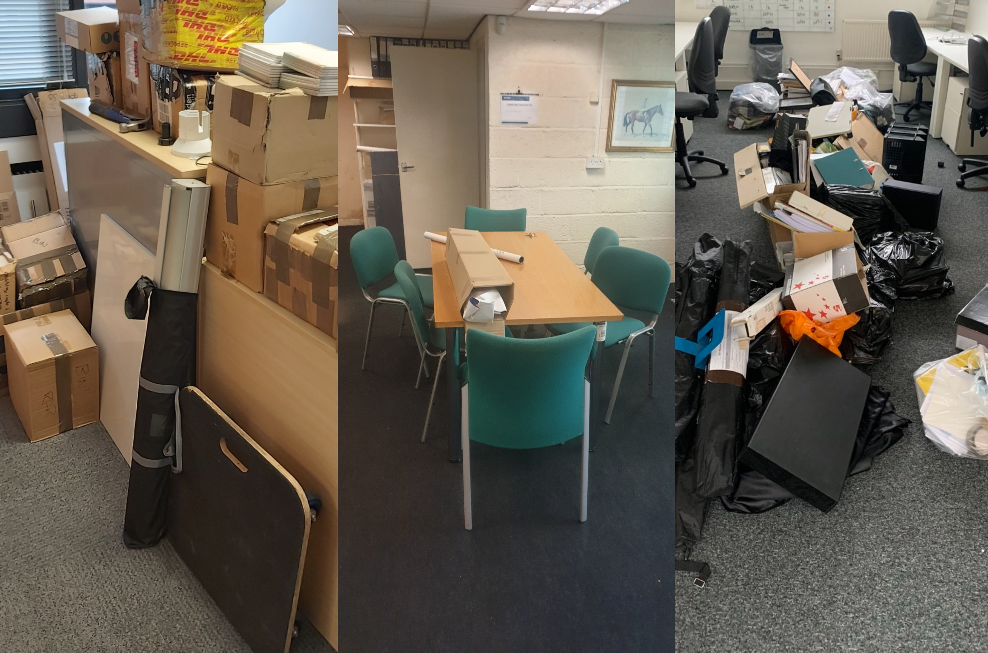 office furniture collage how to dispose of office furniure office clearance clear-out monitors desks lights