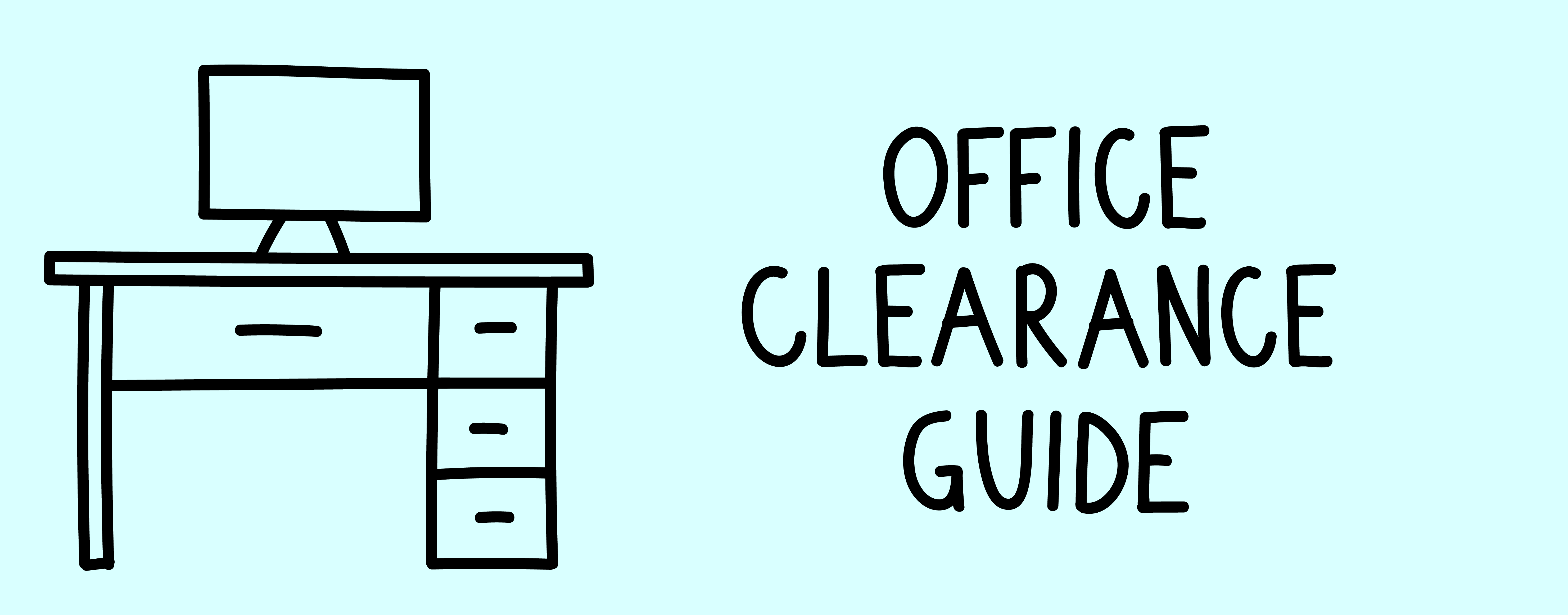 office clearance guide drawing of computer