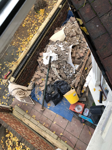 Bricks, rubble and wood - £150, VAT - no