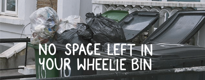 what to do if your bin is overflowing no space left in your wheelie bin