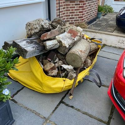 hippobag megabag with rubble