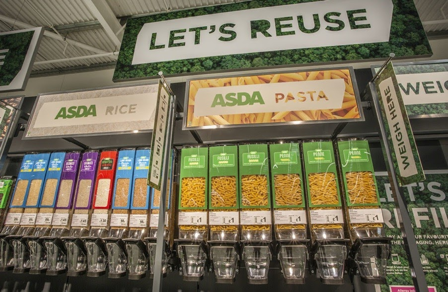 supermarket asda refill station