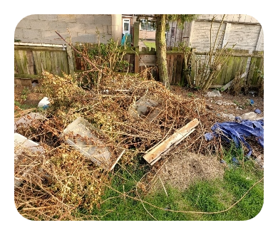 garden waste removal and disposal in london picture of green waste heap