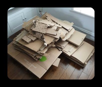 disposal of packaging and cardboard IKEA