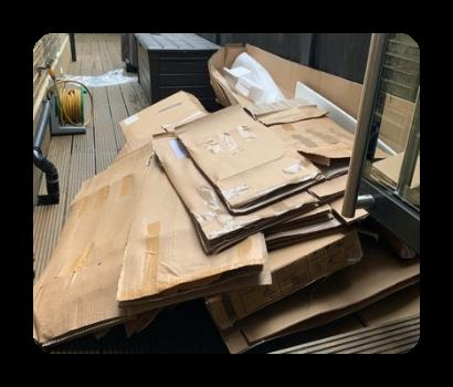 cardboard and foam for disposal