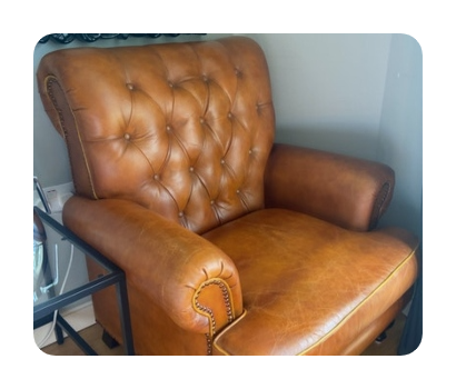 armchair disposed of on lovejunk marketplace for £25