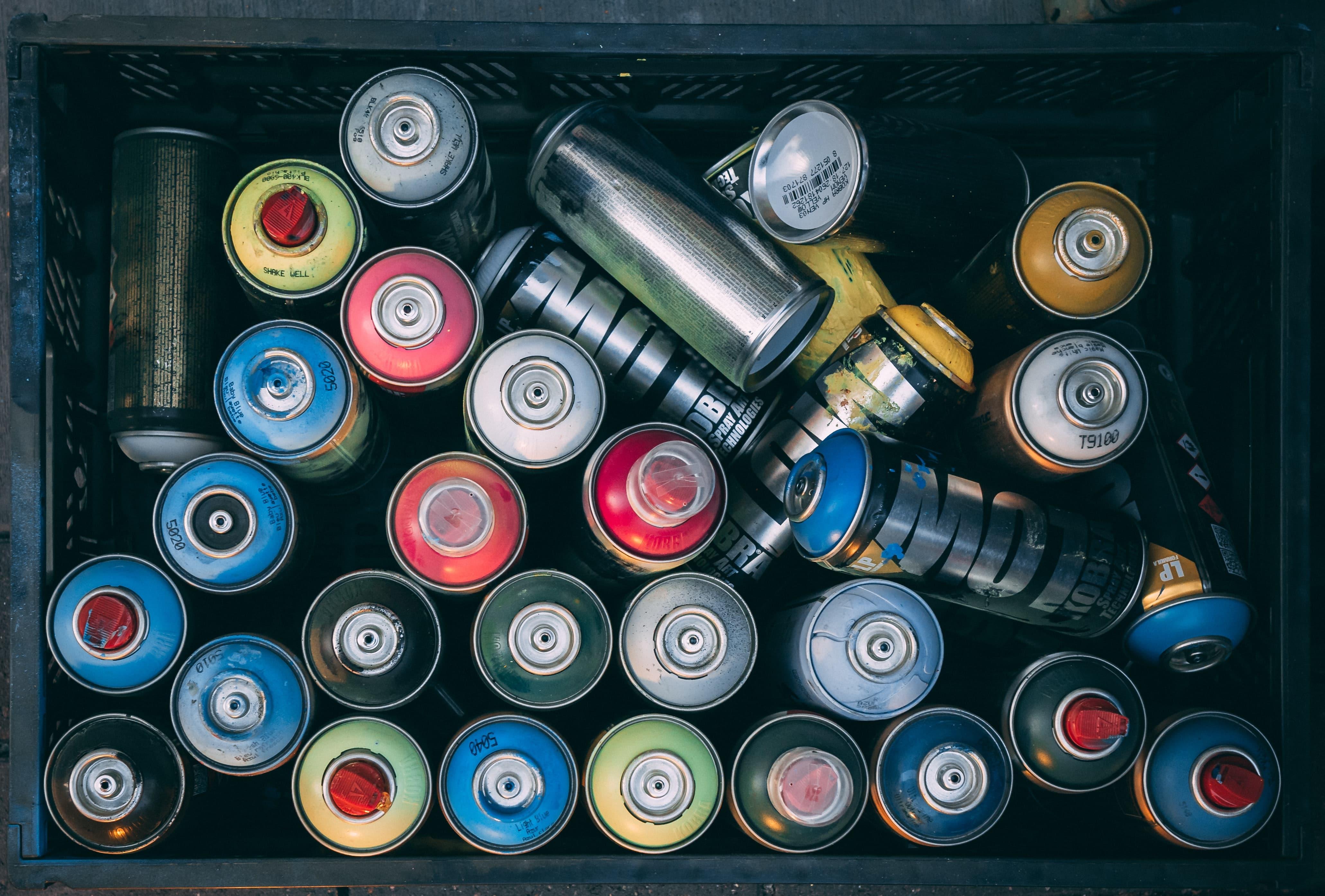 spray paint bottles aerosols disposal