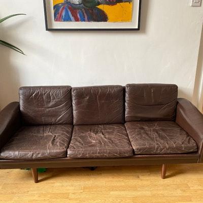 3 seat vintage danish sofa junk disposal