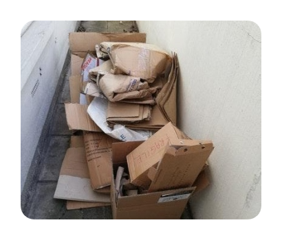 boxes and flattened cardboard disposal