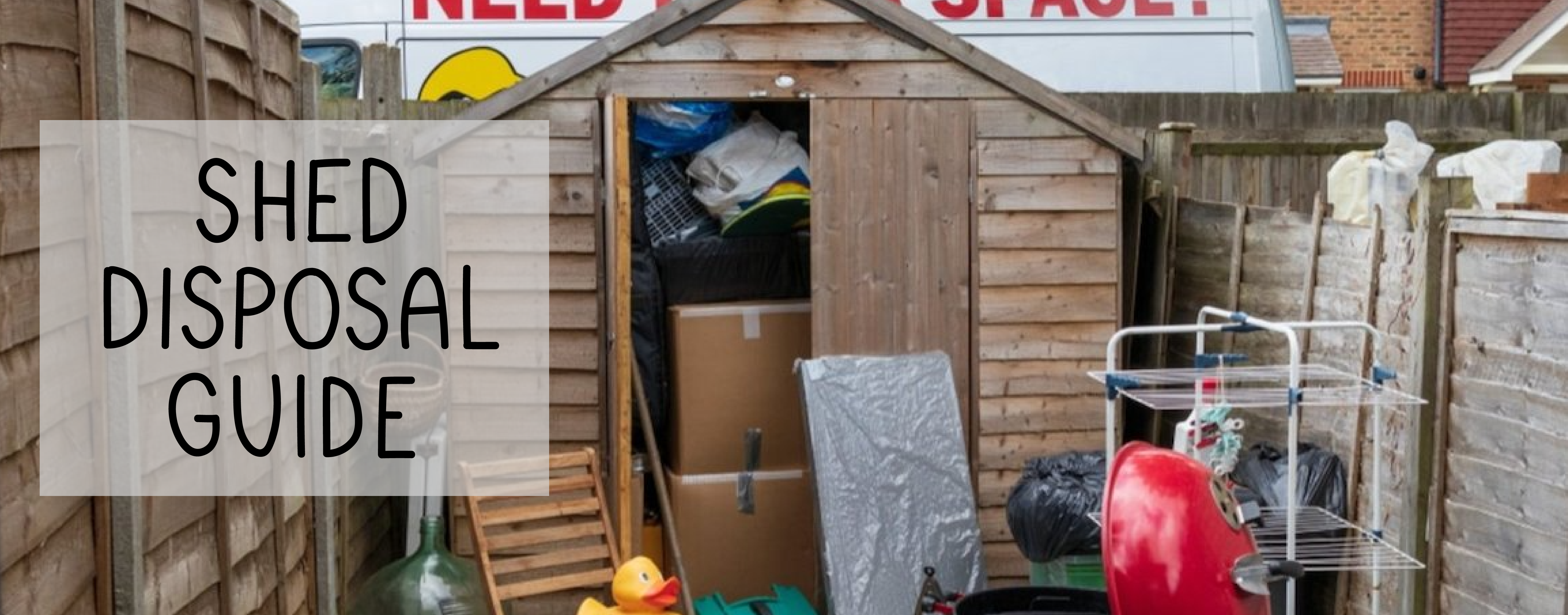 how to dispose of old shed in garden