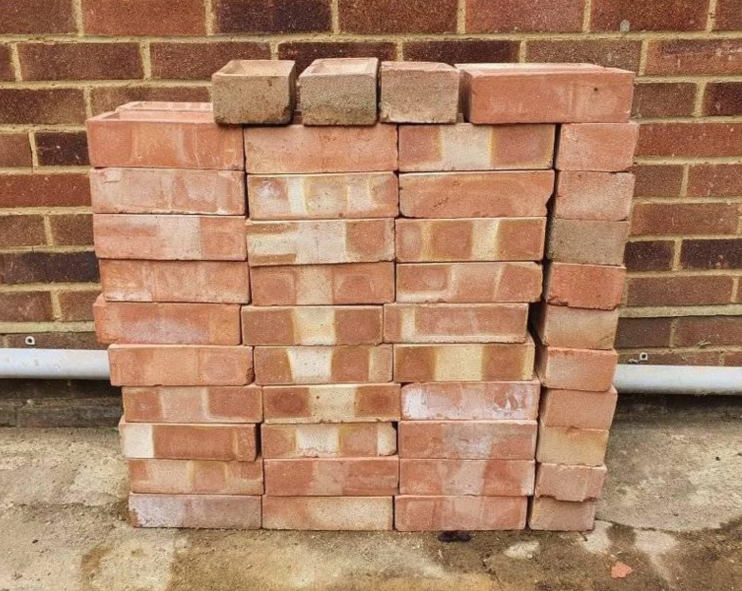 bricks in a neat stacked pile