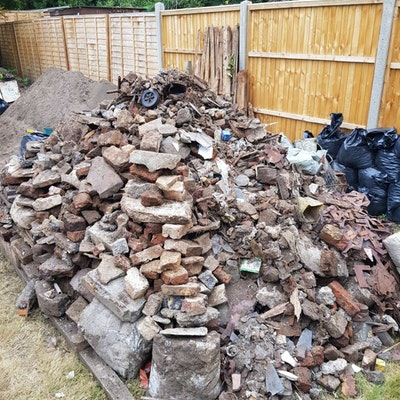 bricks and concrete for disposal