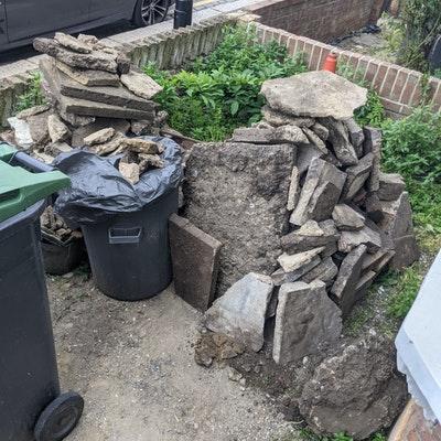 rubble & soil