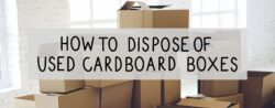 how to dispose of used cardboard boxes