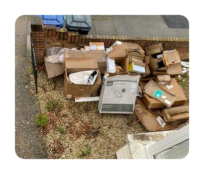 loads of cardboard boxes for disposal